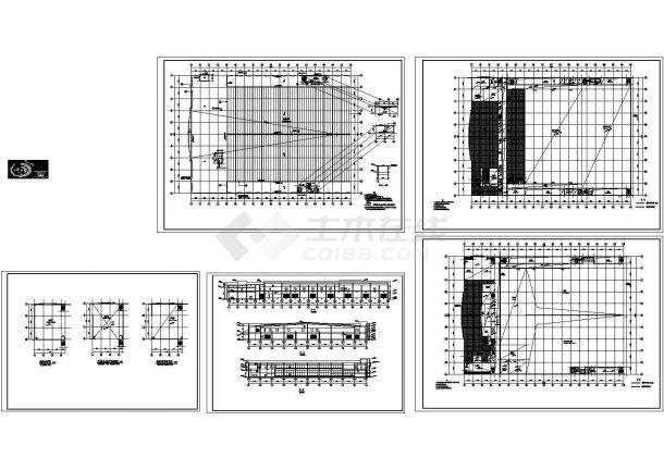 单层厂房建筑图Cad设计图-图一