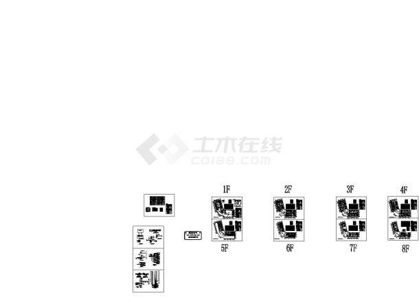 某八层综合楼弱电设计图纸-图一