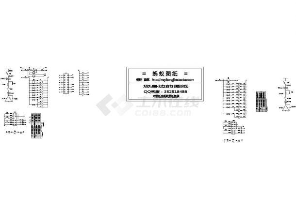 [原理图]工业项目低压配电设备二次控制原理图(含PLC梯形图及端子图)设计图-图一