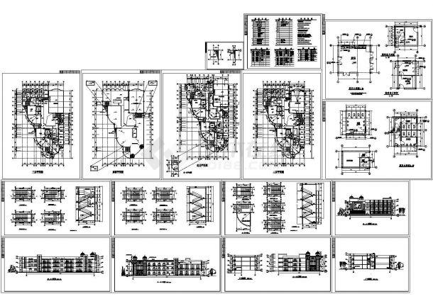 常熟第一幼儿园全套建筑施工设计cad图(含屋顶平面图,剖面图)-图一