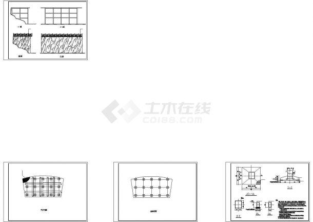 观景平台结构施工设计图纸-图一