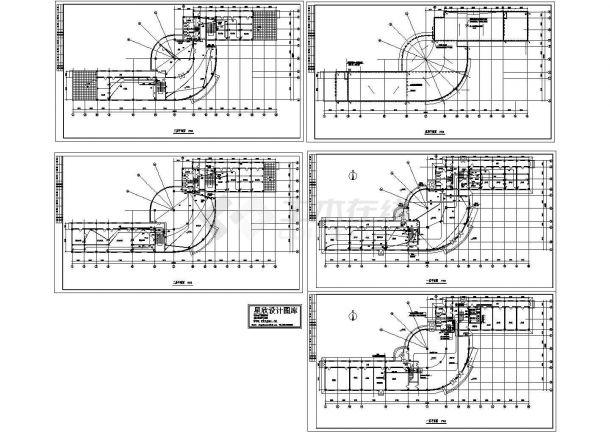 办公楼电气施工CAD全套设计图-图一