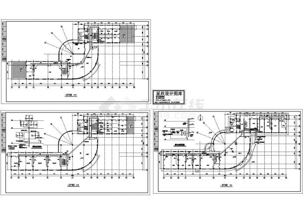办公楼电气施工CAD全套设计图-图二