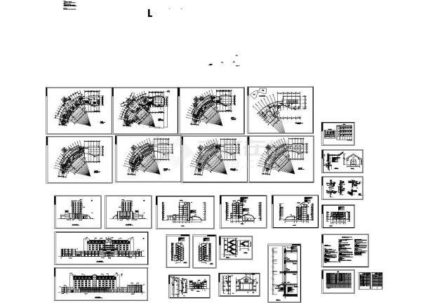 某多层框架结构豪华宾馆建筑设计cad全套施工图(含设计说明)-图二