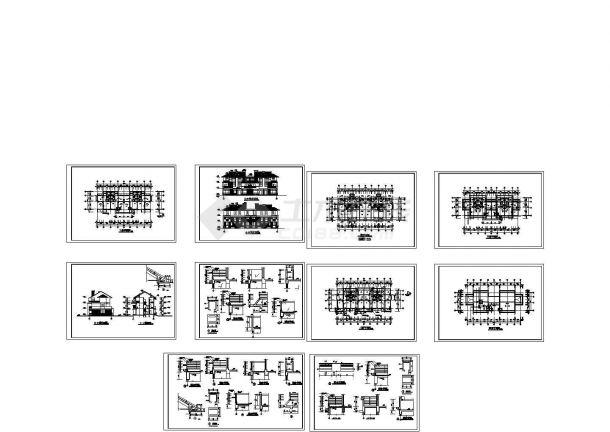 小型别墅施工 cad图纸设计-图二