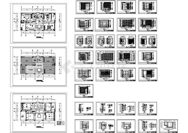 某新农村改造别墅二层房间室内装修设计cad全套施工图纸(标注详细)-图二