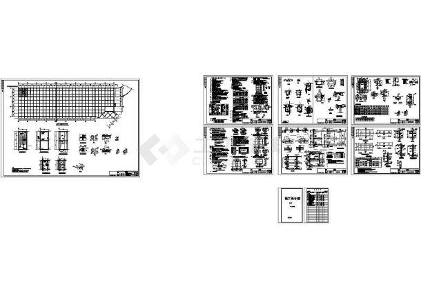 农贸市场地下室结构cad施工图-图一