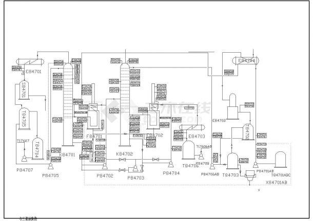 某DCS工艺流程CAD大样构造设计示意图-图一