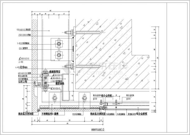某豪华小区大楼预埋件节点非常标准设计cad图纸-图一