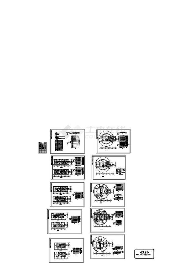六层综合楼电气施工CAD图纸-图二
