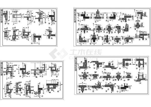 某多层砖混结构研发大楼建筑设计cad全套施工图纸(标注详细)-图二