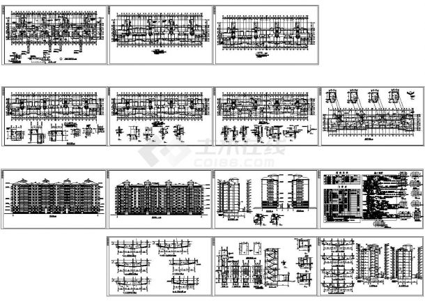 某小高层框架剪力墙结构住宅楼建筑设计cad全套施工图纸(含设计说明)-图一