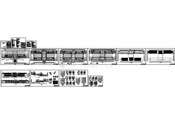 某市中心敬老院和老年公寓(四层框架结构)建筑设计cad全套施工图纸(含设计说明)-图一