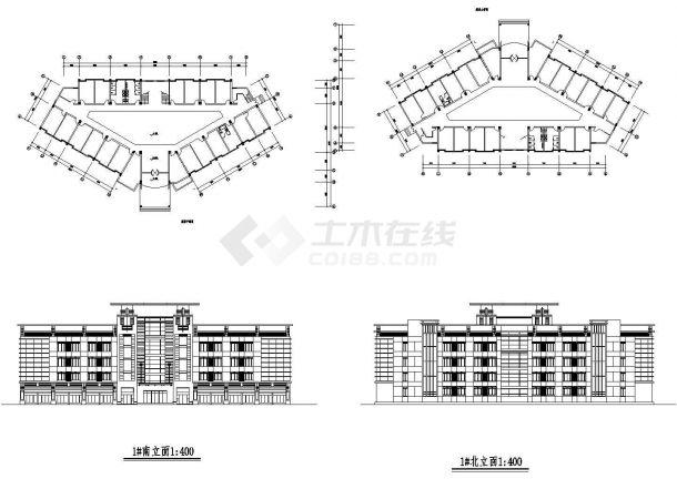 某市政府多层框架结构办公大楼设计cad全套建筑施工图(甲级院设计)-图一