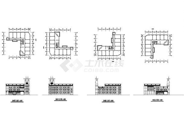 某市政府多层框架结构办公大楼设计cad全套建筑施工图(甲级院设计)-图二