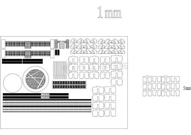 某小高层框架结构政府办公大楼设计cad全套建筑施工图(含行政中心、后勤中心设计)-图一