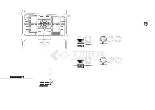 某小高层框架结构政府办公大楼设计cad全套建筑施工图(含行政中心、后勤中心设计)-图二