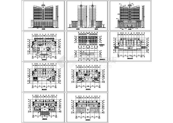 简单大气高层平面建筑施工设计图纸-图一