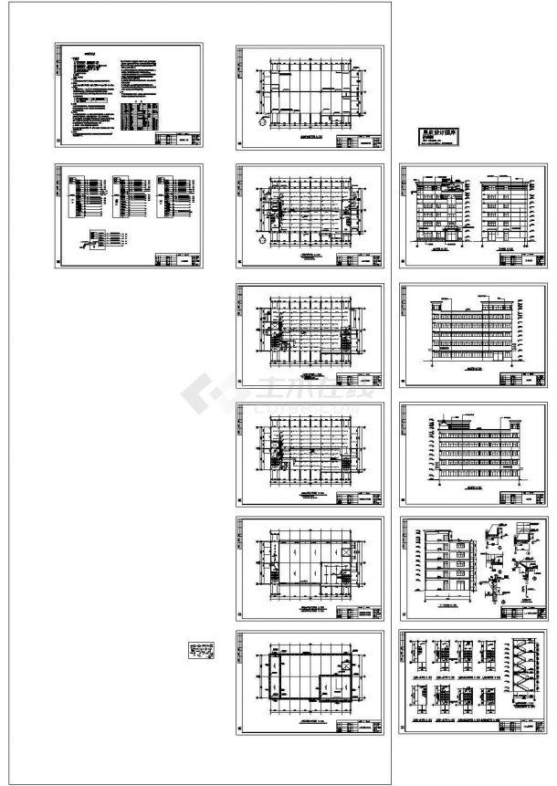 厂房设计_轴承厂房电气施工图Cad设计图-图一
