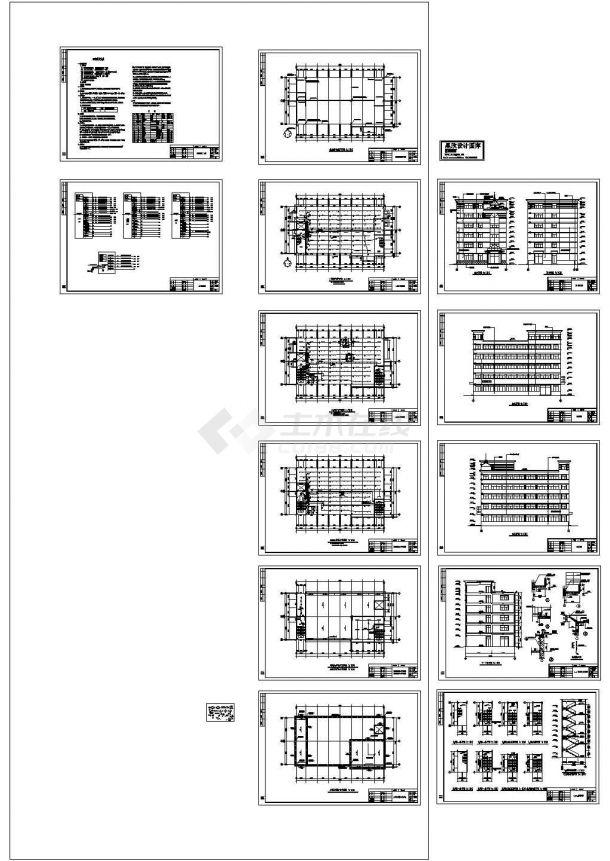 厂房设计_轴承厂房电气施工图Cad设计图-图二