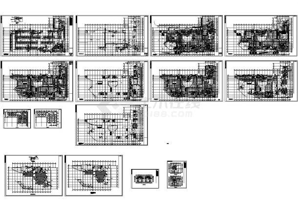 综合性商场及住宅楼空调及通风排烟系统设计施工图,32张图纸。-图一