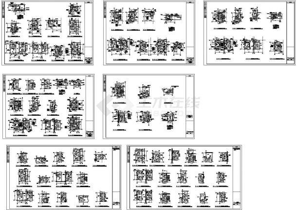综合性商场及住宅楼空调及通风排烟系统设计施工图,32张图纸。-图二