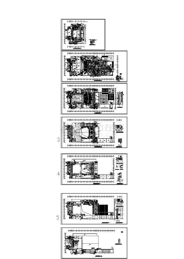 大型商场综合建筑空调及通风排烟系统设计施工图,7张图纸。-图一