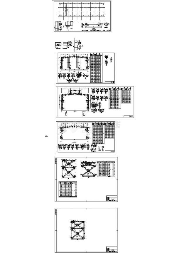 单层门式钢结构厂房结构cad详细设计施工图-图一