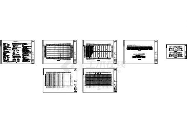 10800平方米钢结构厂房工程设计施工cad图纸,共七张-图一