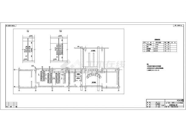 某地区热电有限公司技改扩建原理设计平面CAD图纸-图一