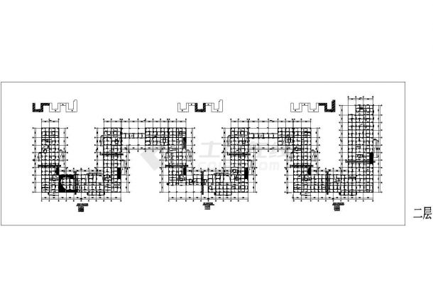 钢筋混凝土结构—自用办公楼结构施工图-图二