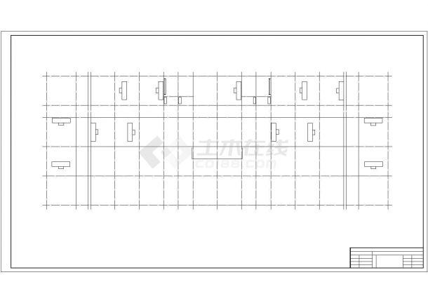 6层框架凹字形教学楼毕业设计CAD图(计算文件、部分建筑、结构图)-图一