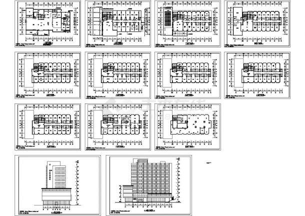 妇保:10层框剪结构妇幼保健院建筑方案设计图,13张图纸。-图一