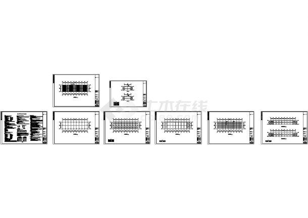双层楼房钢结构工程设计施工cad图纸,共八张-图一