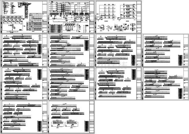工业厂房电气设计方案图纸-图一