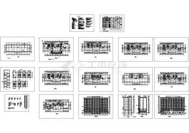 某高层办公楼全CAD设计施工建筑方案图cad施工图设计-图一