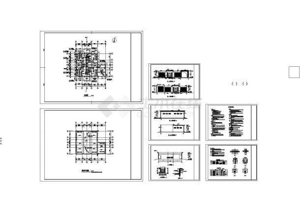 某地公厕建筑设计方案图(共7张)-图一