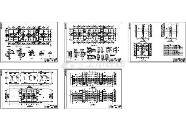某五层宿舍楼详细建筑施工设计图-图二