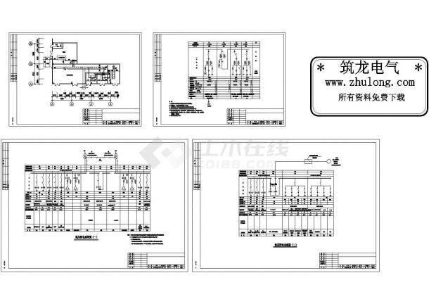 广东某10KV变电室高低压配电系统图-图一