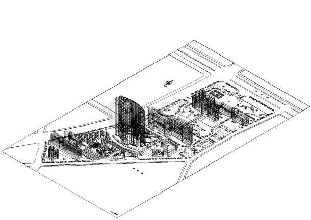 住院:-2+22层医院住院楼建筑方案设计图,4张图纸。-图一