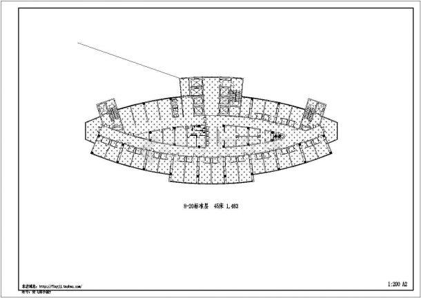 住院:-2+22层医院住院楼建筑方案设计图,4张图纸。-图二