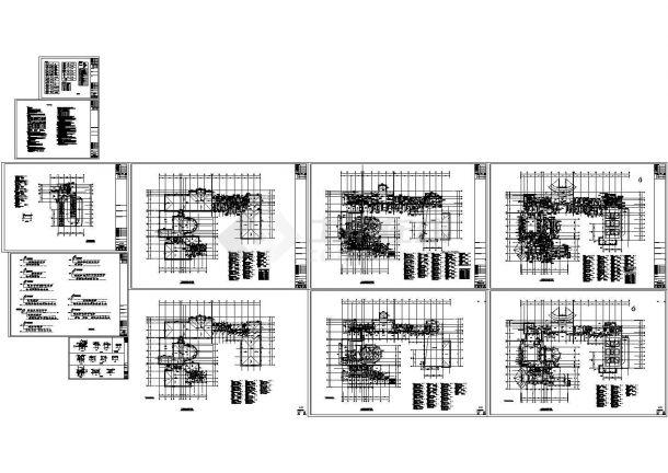 某地上三层办公楼空调通风Cad设计图图纸-图一