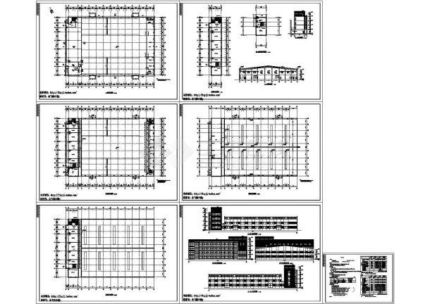 3层局部5层厂房建筑施工CAD图【平立剖 节能说明】-图一
