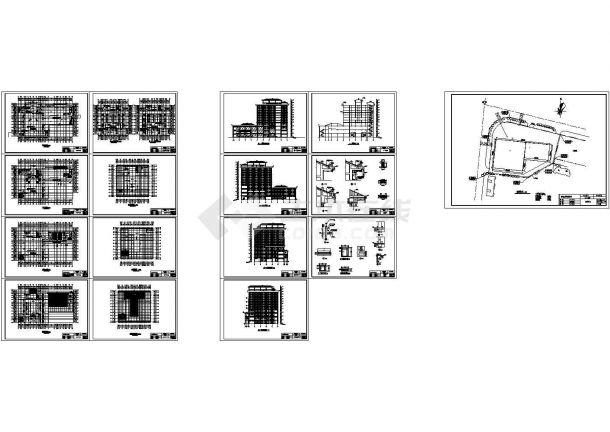 1595㎡十二层酒店建筑设计方案图纸-图一