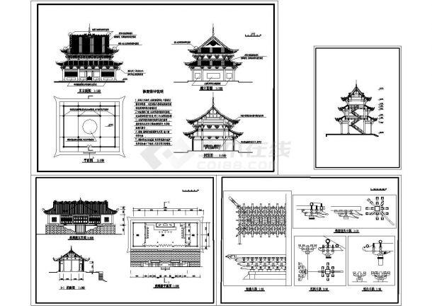 寺庙古建筑设计方案图-图一