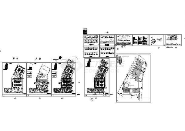 [福建]高层住宅小区给排水消防施工图1-5地下室-图一