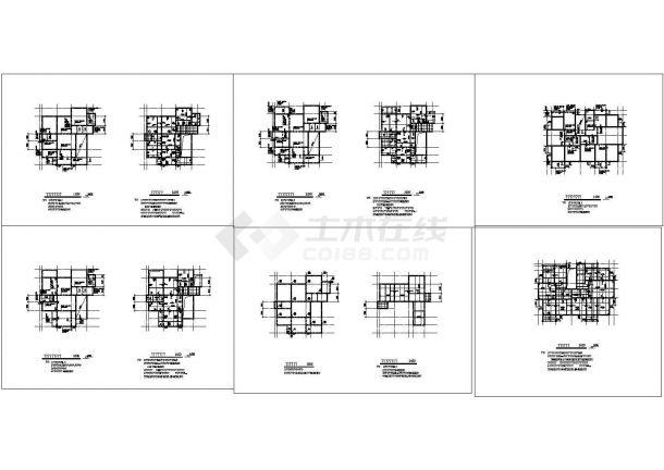 二层带阁楼住宅建筑施工cad图(含效果图,地下室设计)-图二