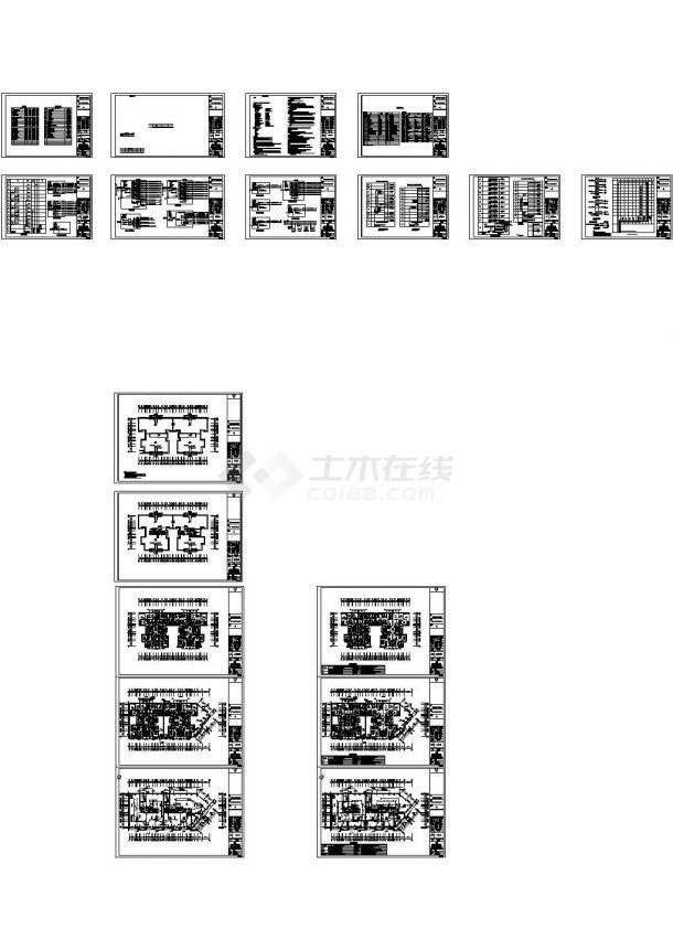 某住宅小区7栋住宅楼强弱电设计cad全套电气施工图(含设计说明,含地下室设计,含消防设计)-图一