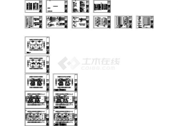 某住宅小区7栋住宅楼强弱电设计cad全套电气施工图(含设计说明,含地下室设计,含消防设计)-图二
