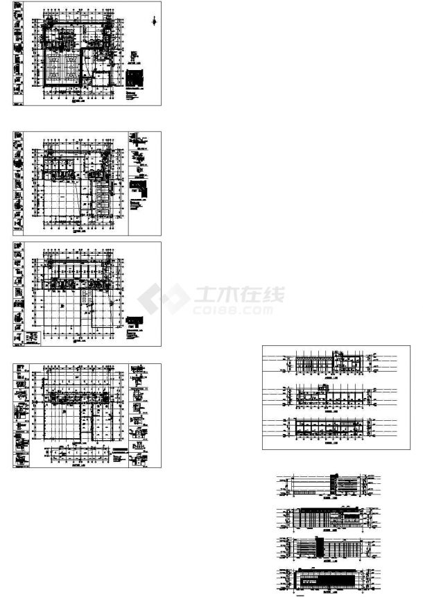 某地三层文化体育馆建筑设计方案图-图一